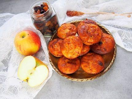 Babeczki JAGLANE cynamonowo-jabłkowe