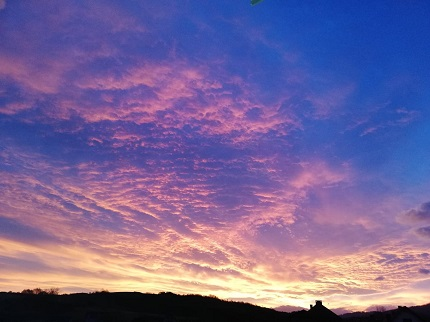 Wschód Słońca 18.11.2019