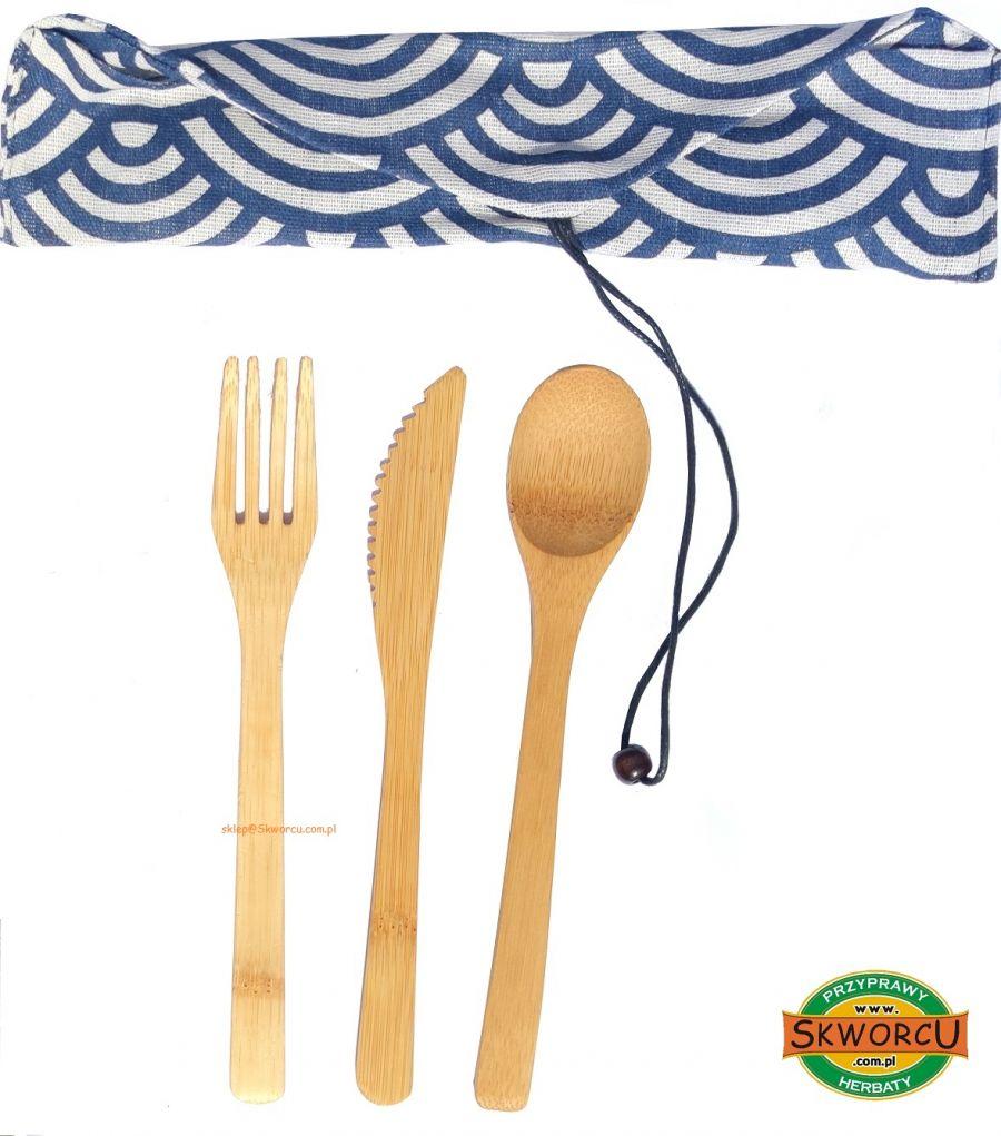 Zestaw sztućców bambusowych 3 elementy